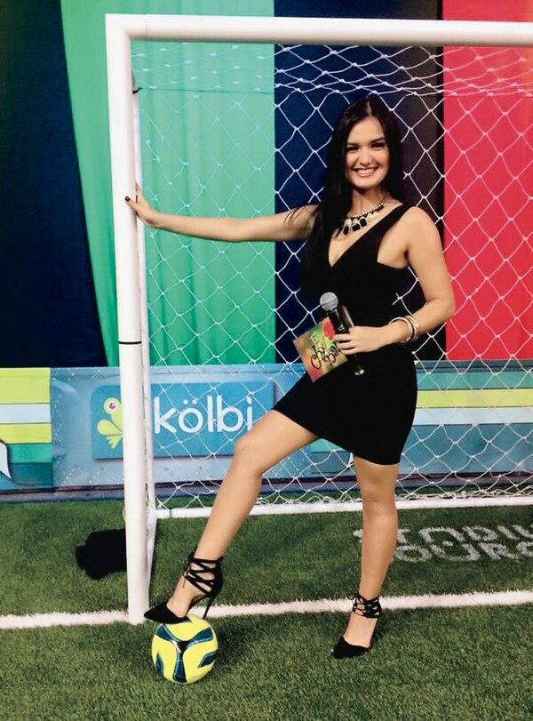 Natalia Álvarez participó como presentadora en El 'Chinamo' de Teletica. Cortesía de Álvarez/Archivo