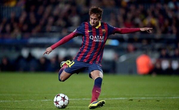 Neymar aportó tres goles en la goleada del Barcelona sobre el Celtic.