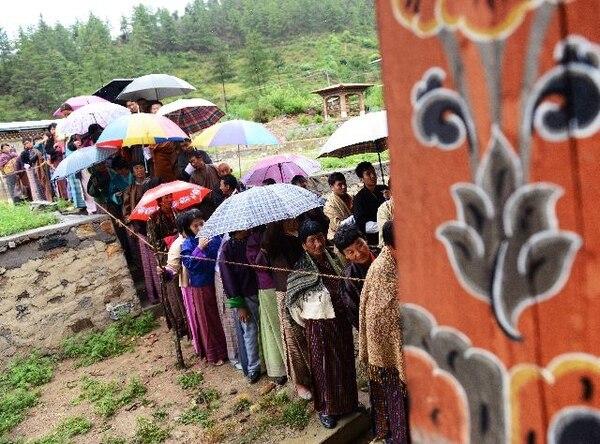 Es la segunda vez que Bután acude a las urnas. | AFP