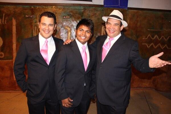 Gabriel Alejandro, Carlos Andrés y Rubenzzon son los cantantes de Nuestra Sonora.