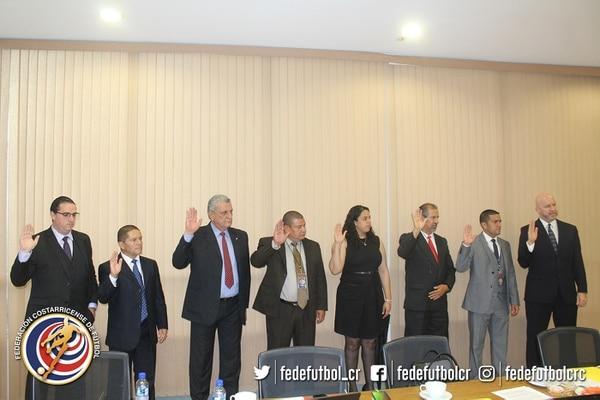 Los miembros del nuevo Tribunal Disciplinario de la Fedefútbol fueron juramentados.