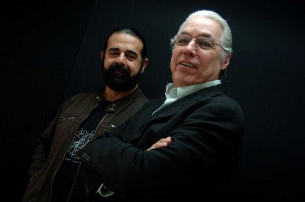 Amigos. Cómplices desde hace más de tres década y media, Adrián Goizueta y Luis Enrique Mejía Godoy han permanecido siempre inseparables. Archivo.