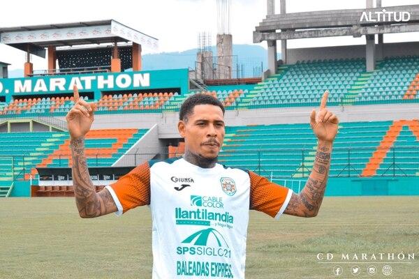 Henry Figueroa comenzó a entrenarse con el Marathón en San Pedro Sula. Fotografía: Twitter Marathón