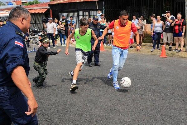 Róger Rojas se divirtió en La Mejenga. Fotografía: Rafael Pacheco