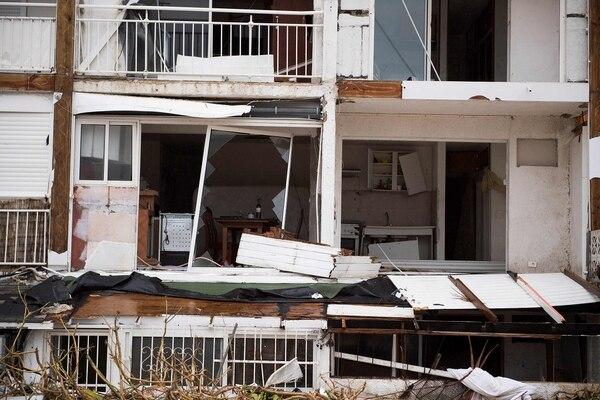Viviendas quedaron destruídas por Irma.