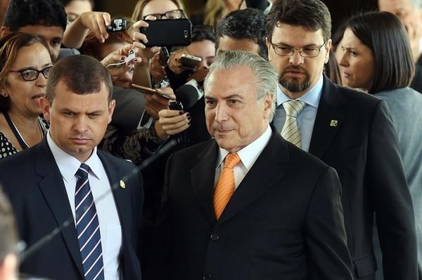 Temer rechazó hablar de la carta que le envió a Rousseff. | AFP