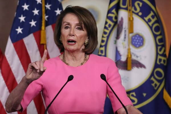 WASHINGTON, DC - MAY 23: House Speaker Nancy Pelosi (D-CA) speaks during her weekly news conference on Capitol Hill May 23, 2019 in Washington, DC. Speaker Pelosi said she is concerned for the President Trump's well being and that of the country. Mark Wilson/Getty Images/AFP == FOR NEWSPAPERS, INTERNET, TELCOS & TELEVISION USE ONLY==