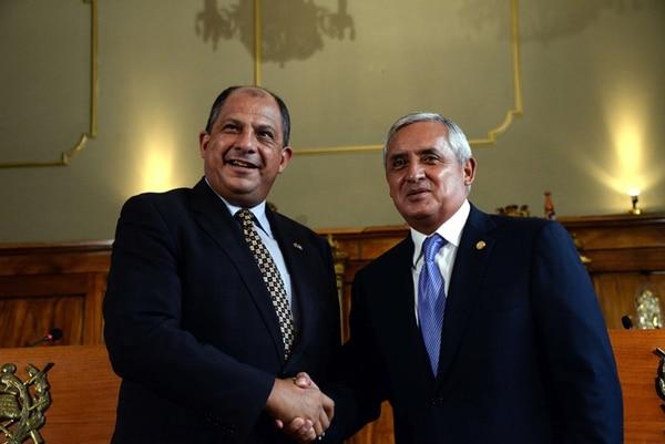 Otto Pérez, presidente de Guatemala, dijo ayer a Luis Guillermo Solís que no podrá venir al traspaso de poderes del 8 de mayo. | APF