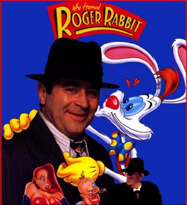 Bob Hoskins en el cartel de la película '¿Quién engañó a Roger Rabbit?'