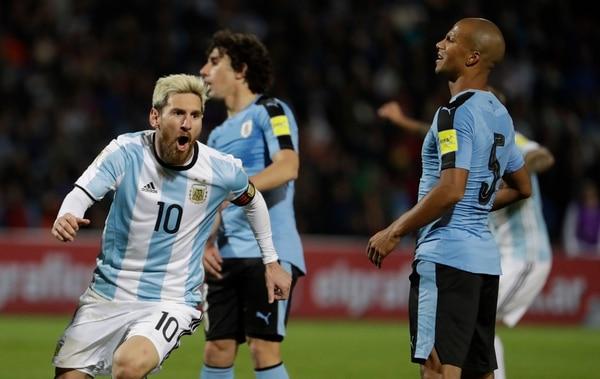 Así celebró Messi su anotación.
