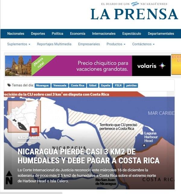 La Corte determinó, este miércoles, que Costa Rica tiene soberanía sobre el extremo norte de isla Calero