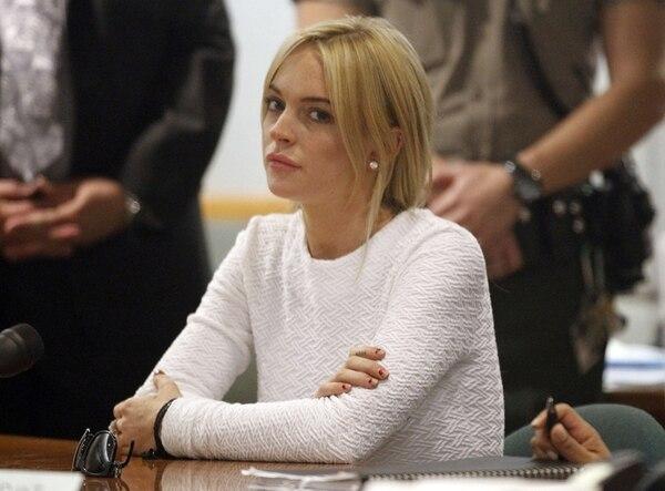 Enésimo incidente. En marzo, la actriz evadió un encarcelamiento al aceptar 90 días en rehabilitación, psicoterapia por 18 meses y trabajo comunitario. Archivo