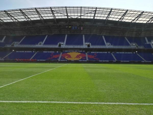 La grailla del estadio Red Bull Arena está en perfectas condiciones.