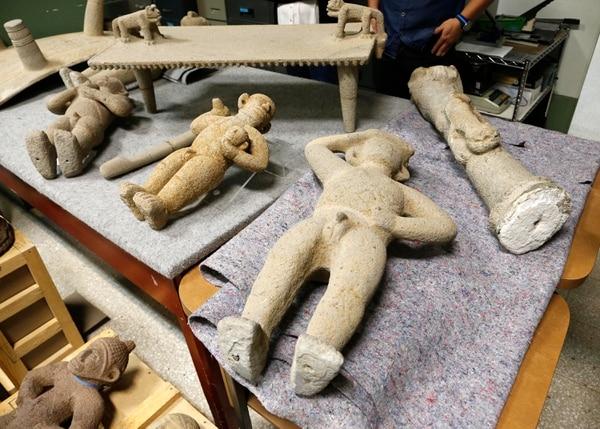 Piezas que datan desde el 500 d. C. hasta el 1.300 d. C. y que provienen de las tres regiones arqueológicas del país: Central-Vertiente Atlántica, Pacífico Norte-Guanacaste y Díquis, conformaron la colección repatriada en enero desde Venezuela. Foto: Albert Marín.