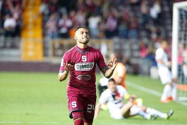 David Ramírez abrió el marcador a los 2' minutos de juego en el Clásico entre Saprissa y Alajuelense.