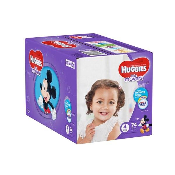 Estos pañales se encuentran disponibles desde la talla 3 hasta la 6, (para edades entre 9 y 18 meses). Foto cortesía Huggies.