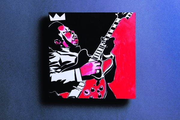 B.B. King, guitarrista y cantautor de blues estadounidense. Ilustración de Augusto Ramírez.