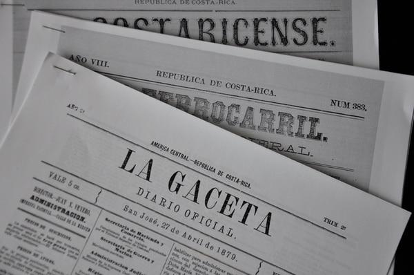 Edición del diario oficial del 27 de abril de 1879, año en que se celebrara la fecha en honor de Tomás Guardia