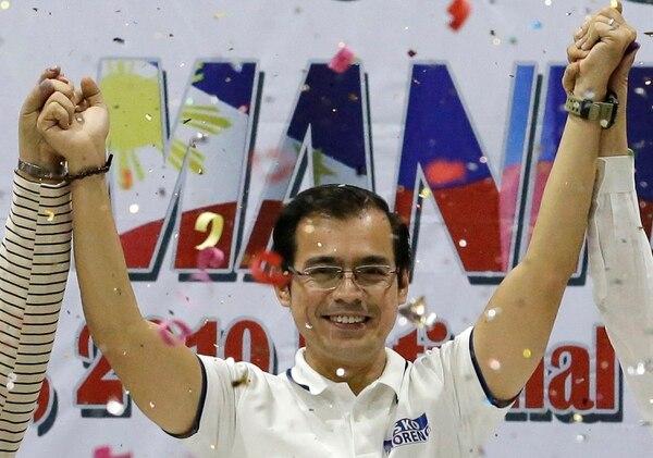 Isko Moreno Domagoso festejó su victoria como nuevo alcalde de manila, este martes 14 de mayo del 2019.