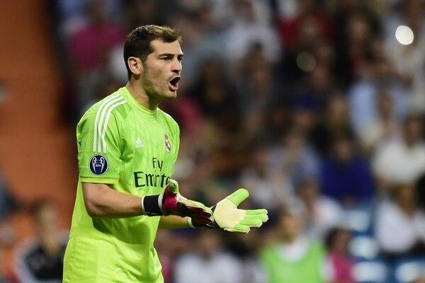 El portero Iker Casillas no tuvo mucho trabajo en el duelo del Real Madrid ante el Basilea por la Champions League.