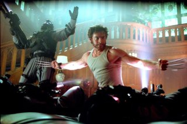 **TO GO WITH STORY TITLED SUMMER MOVIES**Actor Hugh Jackman, center, as Wolverine attacks hostile forces in a scene from the Twentieth Century Fox movie
