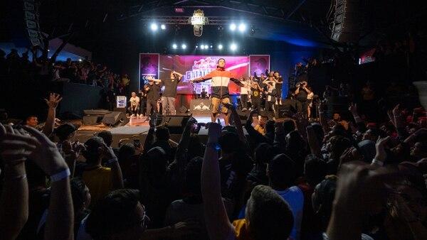 El rapero Kamaño llegó con mucha fuerza a la competencia y se quedó el tercer lugar. Foto: Cortesía de Red Bull