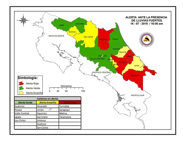 La Comisión Nacional de Emergencias (CNE) extendió el nivel de alerta en todo el país este lunes 16 de julio, luego de que las fuertes lluvias del fin de semana afectaran varias comunidades. Foto: CNE para LN