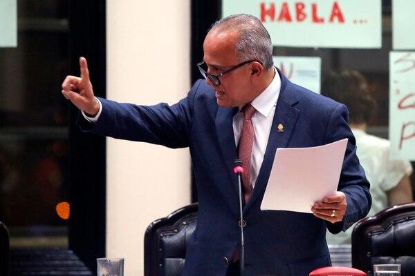 Luis Fernando Chacón, jefe de la bancada del PLN. Foto: Mayela López