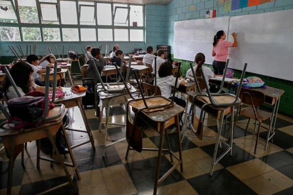 13-08-2015. Hora: 09:55 a.m. Fotografías realizadas en la primaria de la Unidad Pedagógica Colegio México, ubicado en Barrio Aranjuez, con el fin de ilustrar publicación del Estado de la Educación. El INEC estima que la población de 0-14 años pasará de ser el 22,2% en 2018 a ser el 20,5% en 2025.