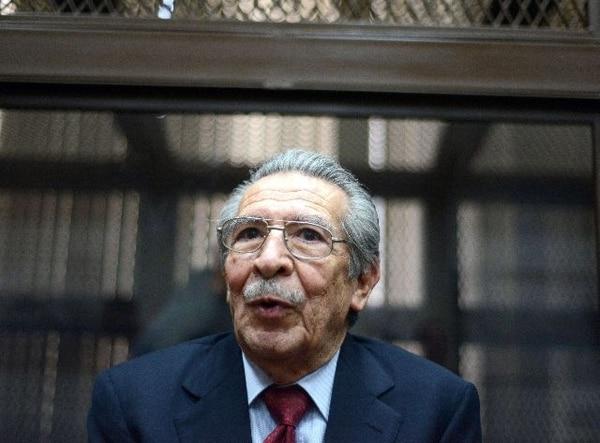 Ríos Montt, durante una audiencia en la corte el pasado lunes. | AFP.