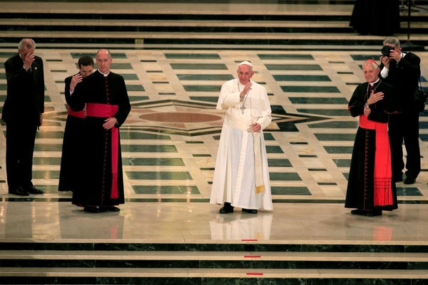 El papa Francisco durante la ceremonia de canonización