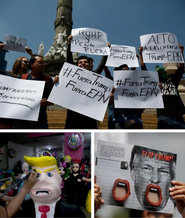 Manifestaciones contra el millonario en México
