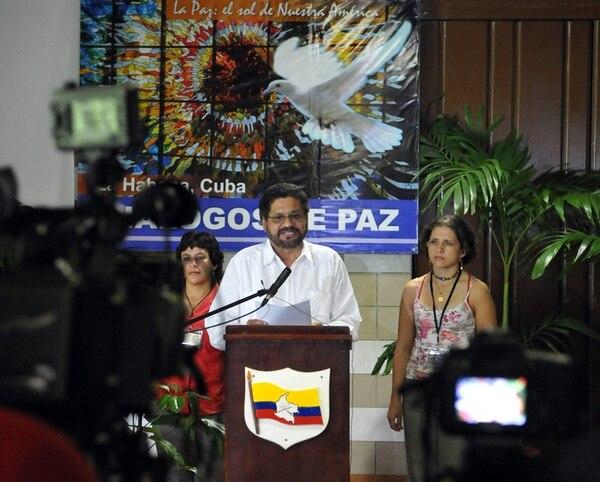 Iván Márquez, segundo jefe de las FARC, habló ayer en La Habana. | EFE