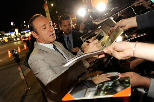 Kevin Spacey signs autographs at a special screening for season 2 of