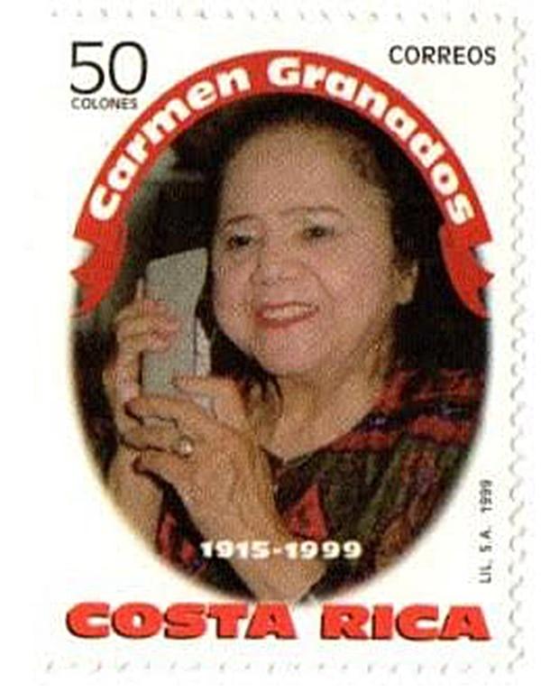 Sello de 1999 con la imagen de Carmen Granados. Foto: César Sancho.