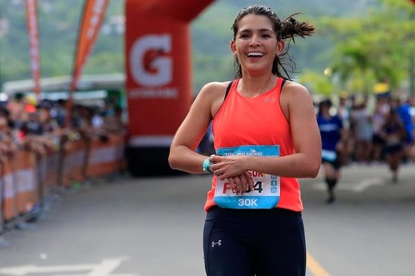 Natalia hizo su primera maratón en 2017 en Chicago (3:45). Y el año pasado corrió su segunda prueba de 42 kilómetros en Victoria, Canadá (3:26). Foto: Rafael Pacheco
