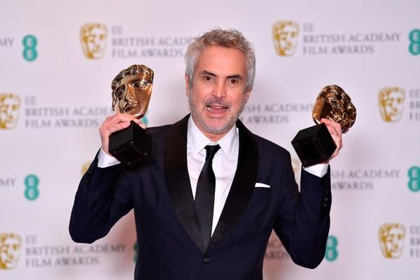 Alfornso Cuarón fue el gran triunfador de los BAFTA. Foto: AFP.
