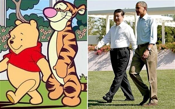 Jinping no pudo ocultar su enojo por la comparación con el oso; Obama no se manifestó.