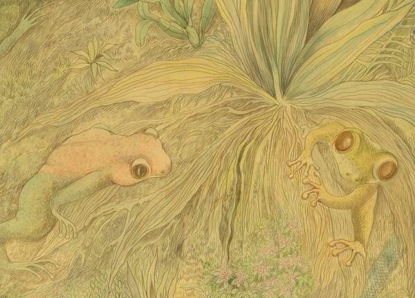 Este detalle permite apreciar el minucioso trabajo de Flora Sáenz