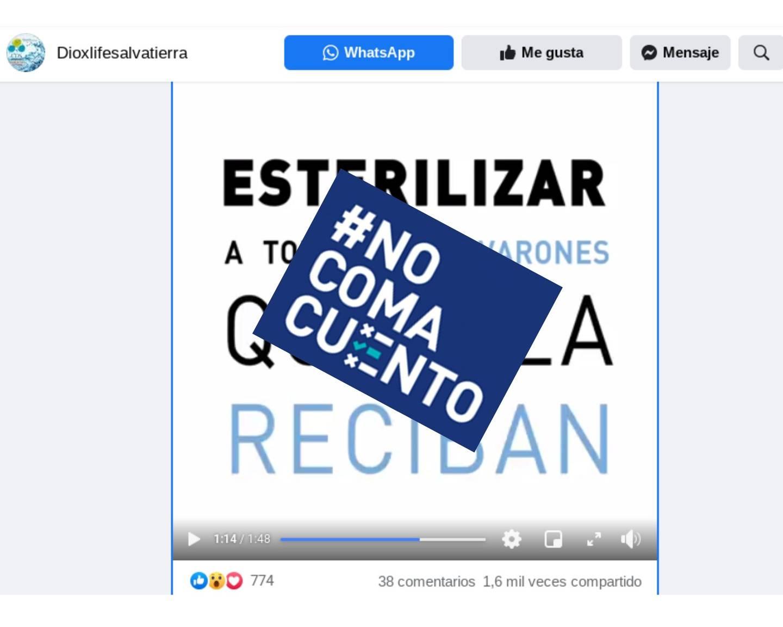 """En un video de Facebook, la médica argentina Chinda Brandolino asegura que las vacunas contra la covid-19 dejarán estériles a todos los hombres quienes las reciban y afirma que estas son """"parte aberrante de un fraude científico"""". La grabación se difunde en Costa Rica."""