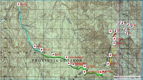 Unos 88 kilómetros de selva fueron atravesados por los montañistas en medio de condiciones climáticas muy adversas. Imagen: Cortesía J. Campos.