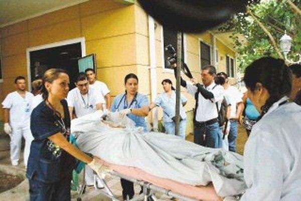 Quirós fue llevado al hospital en estado grave. | ANDRÉS GARITA