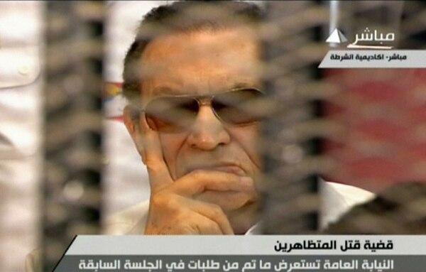 Mubárak compareció ayer en la reanudación de un juicio por supuesta complicidad en asesinatos.