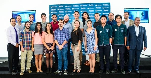 Esta es la primera generación de emprendedores cuyas empresas se incubarán en Open Future, en las instalaciones del Cenat.   TELEFÓNICA.