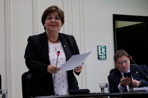 En la foto, la diputada Shirley Díaz, subjefa del Partido Unidad Social Cristiana. Foto: Mayela López