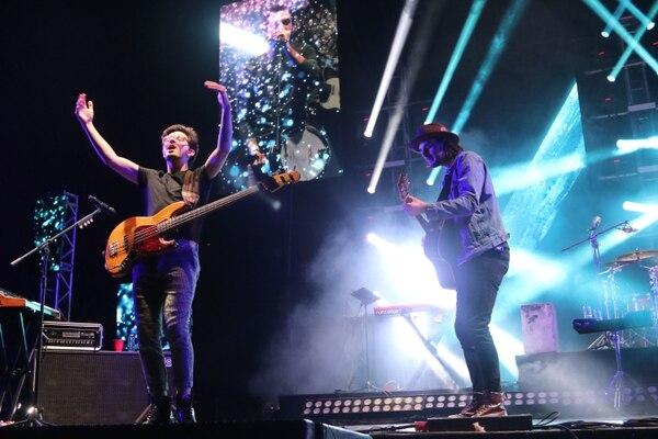Los chicos de Morat fueron un estallido de sentimientos en el escenario. Foto: Adrian Soto