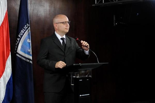 Michael Soto, ministro de Seguridad Pública, dijo que