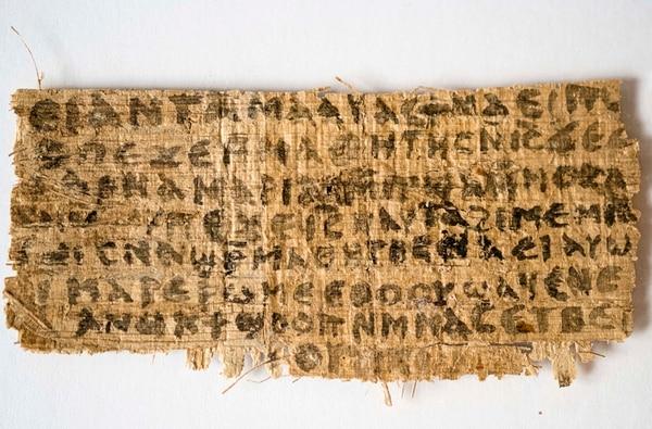 Los análisis y el contexto histórico concluyen que es prácticamente seguro que este papiro es producto de los cristianos antiguos y no uno falso, destaca el estudio en la Revista Teológica de Harvard. | HARVARD UNIVERSITY