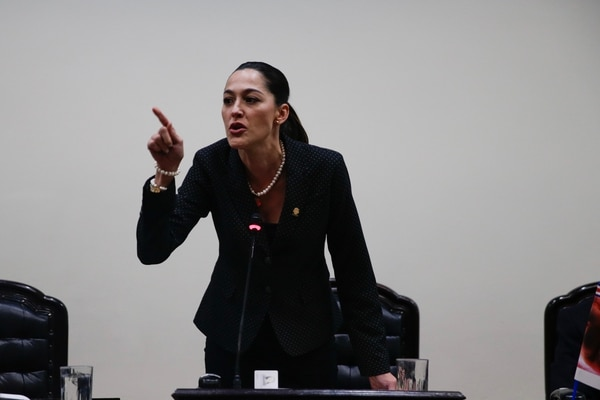 María Inés Solís, jefa de fracción del PUSC. Fotografía: Alejandro Gamboa Madrigal.