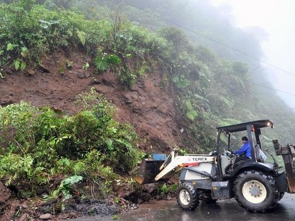 La ruta 32 hacia Limón quedó habilitada desde ayer. | ALONSO TENORIO